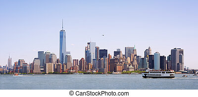 Skyline of New York City, USA