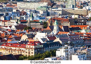 skyline of old town in Bratislava city