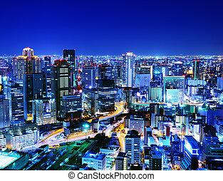 Osaka Japan - Skyline of Osaka Japan