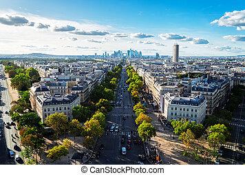 skyline of Paris, France - panoramic skyline of Paris city...