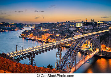 Skyline of Porto, Portugal - Skyline of Porto with the Dom...