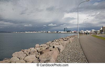 Reykjavik, Iceland - Skyline of Reykjavik, Iceland