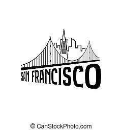 skyline of San Francisco vector design template