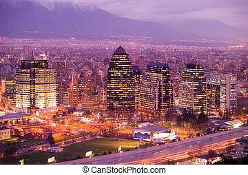 Santiago de Chile - Skyline of Santiago de Chile