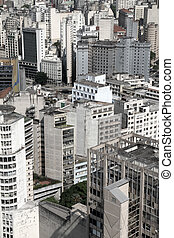 Skyline of Sao Paulo - Skyline of Sao Paulo, Brazil, South...