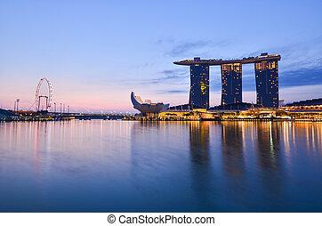 Skyline of Singapore building