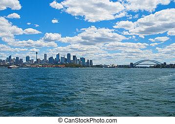 skyline of Sydney Bay Australia