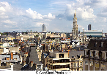 Brussels - Skyline of the city of Brussels, Belgium
