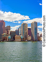 Skyline of the Financial District in Boston