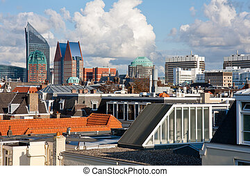 Skyline of The Hague, Dutch governmental city