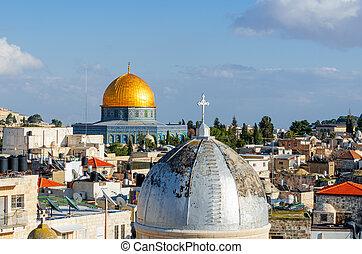 Skyline of the Old City in Jerusalem