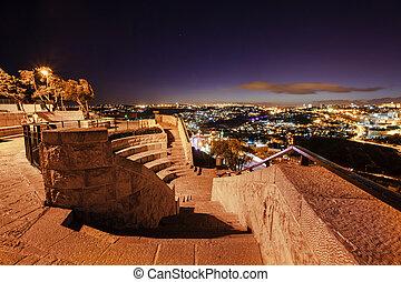 Skyline of the old city of Jerusalem, Israel.