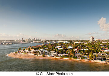 Skyline of the waterfront of Fort Lauderdale, Florida, USA