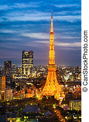 Skyline of Tokyo, Japan
