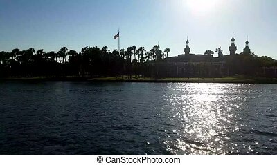 Skyline of University of Tampa on February 3 in Tampa,...