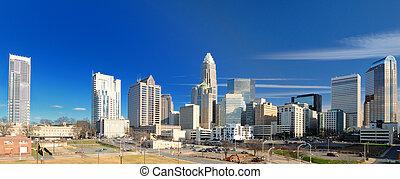 Skyline of Uptown Charlotte, North Carolina.