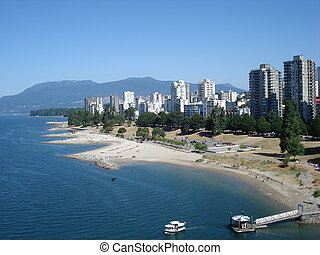 Vancouver - Skyline of Vancouver, British Columbia, Canada.