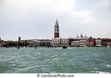 Skyline of Venice, Italy - from Murano