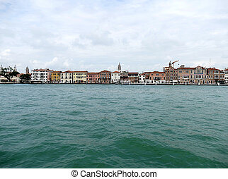 Skyline of Venice, Venezia, Italy, Europe sea view