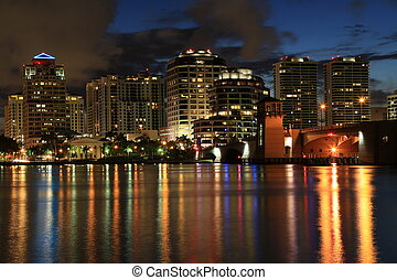 Skyline of West Palm Beach, Florida