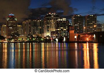Skyline of West Palm Beach, Florida