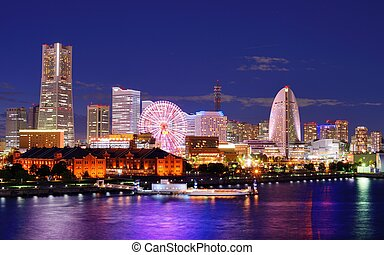 Yokohama - Skyline of Yokohama, Japan.