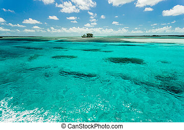 Gorgeous image of a small island in the middle of the Carribean sea