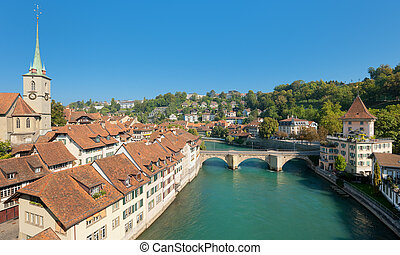 Skyline over the old town of Bern