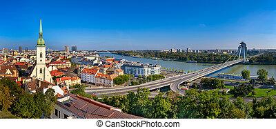 Skyline panorama of Bratislava
