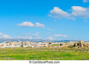 Skyline Paphos Mosaics history Cyprus