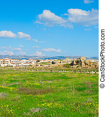 Skyline Paphos Mosaics people Cyprus