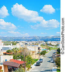 Skyline Paphos road mountains Cyprus