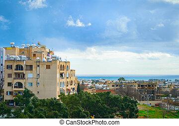 Skyline Paphos sea Cyprus