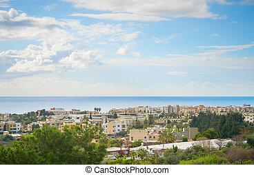 Skyline Paphos sea sky Cyprus