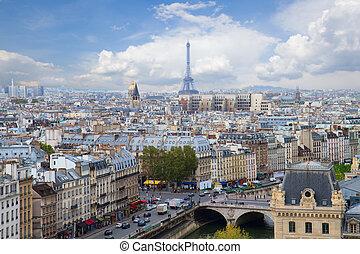 skyline, paris, frankreich