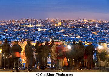 Skyline Paris from Montmartre