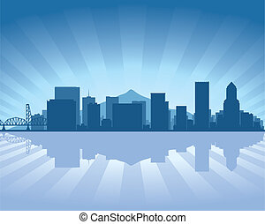 skyline, portland