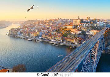 Skyline Porto Old Town Portugal