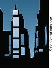 skyline, quadrado, vezes