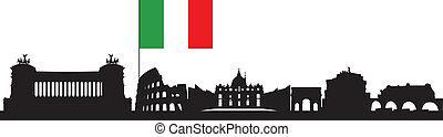 skyline, roma