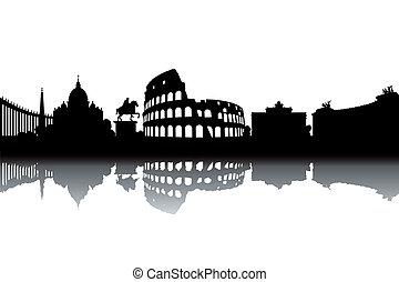 skyline, rome