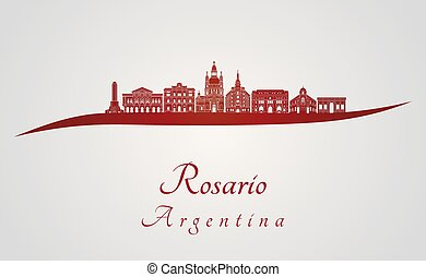 skyline, rosario, vermelho