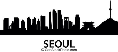 Skyline Seoul - detailed skyline illustration of Seoul, ...