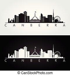 skyline silhouette, bekende & bijzondere plaatsen, canberra