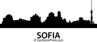 Skyline Sofia - detailed illustration of Sofia, Bulgaria
