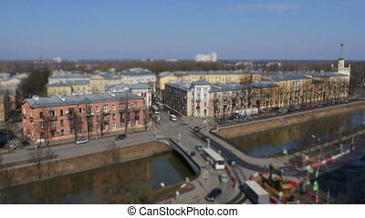 skyline St. Petersburg from time lapse - skyline St....