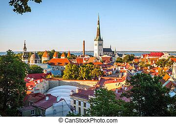 skyline, tallinn, estónia
