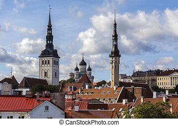 skyline, -, tallinn, estónia