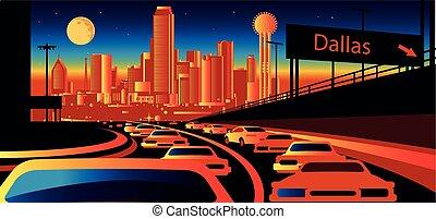 skyline, texas, dallas