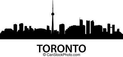 Skyline Toronto - detailed skyline illustration of Toronto,...